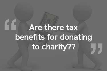 Is there taxt benefits to giving to charity?