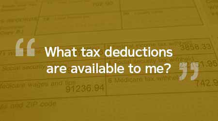 What tax deductions are available to me