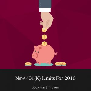 New 401k Limits For 2016