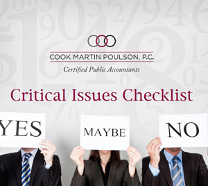 Critical Issue Checklist